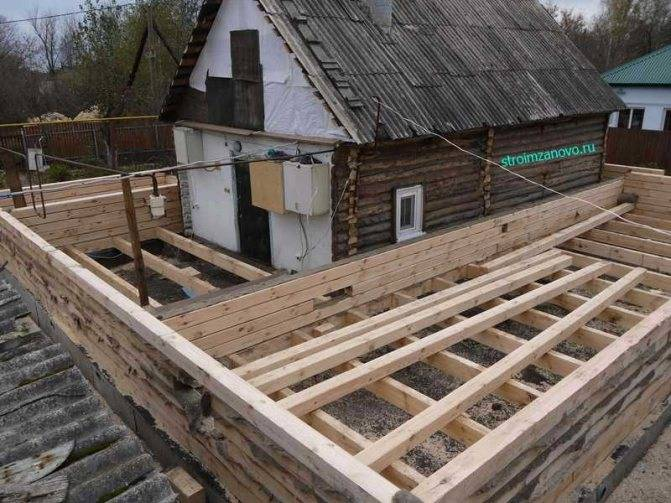 Как залить фундамент под старый деревянный дом: три основных способа