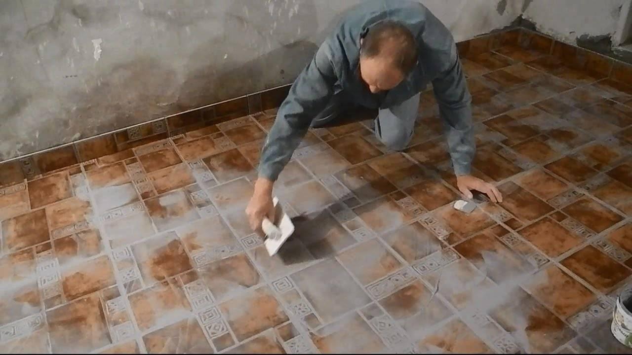 Как затирать швы керамического кафеля в ванной комнате