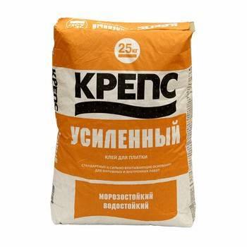 Клей для плитки «крепс» усиленный 25 кг: технические характеристики, смеси в упаковках по 25кг