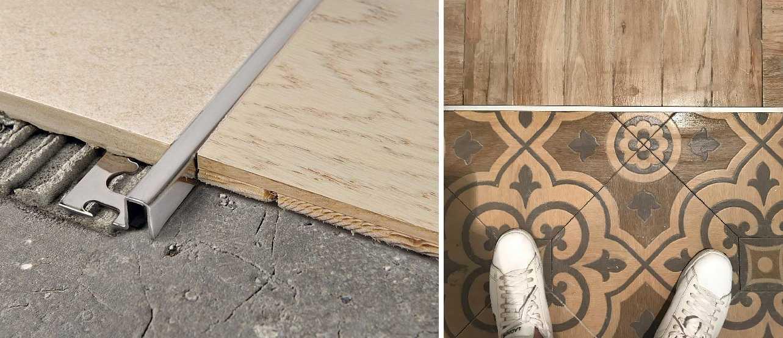 Способы сочетания ламината и керамической плитки
