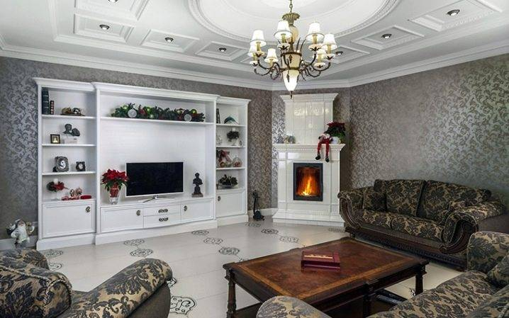 Тепло и уютно: 67 примеров и фото-идей размещения углового камина в интерьере гостиной