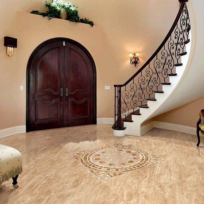 Плитка на пол в коридор и прихожую: 50+ фото в интерьере, идеи облицовки