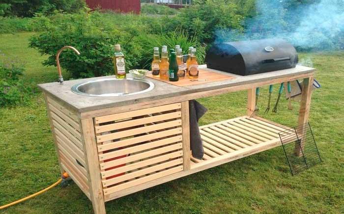 Как обустроить летнюю кухню на даче с барбекю и мангалом дешево своими руками: Фото, проекты очень простых конструкций