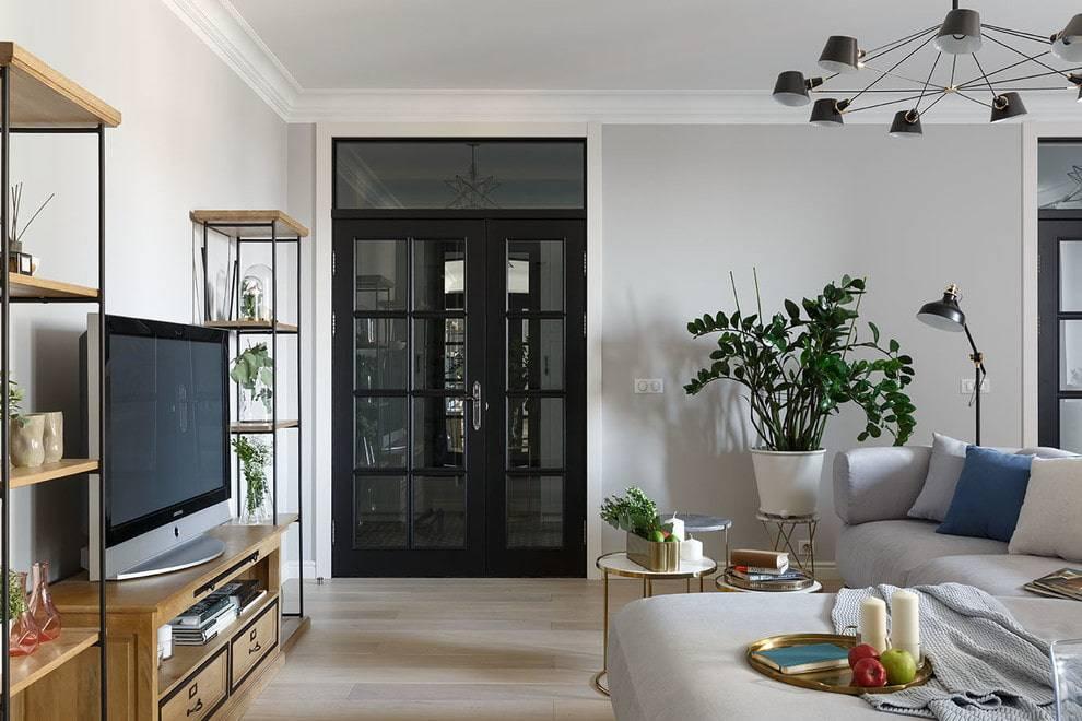 Межкомнатные двухстворчатые двери: стандартные размеры с коробкой