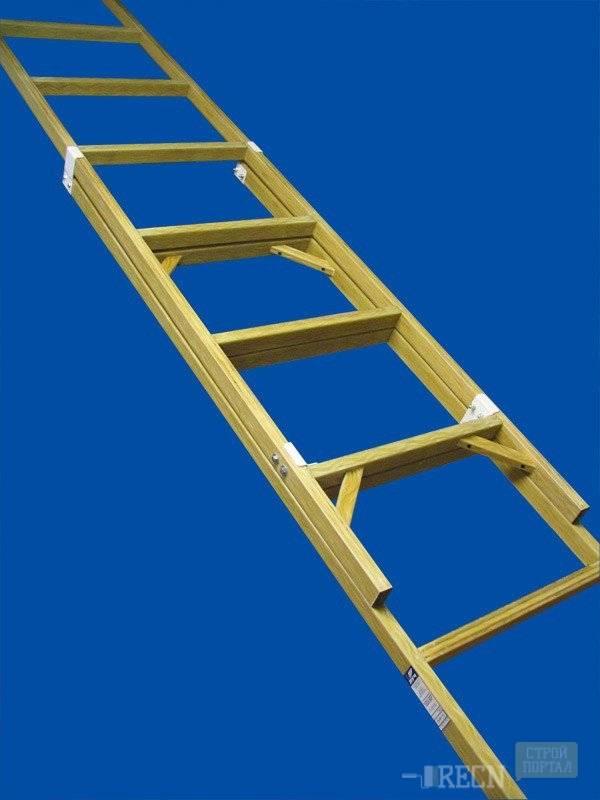 Приставная лестница из дерева своими руками: виды, чертежи с размерами, видео-инструкция - дом и участок