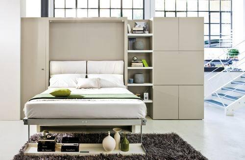 Кровати трансформеры икеа, фото встроенной в шкаф мебели