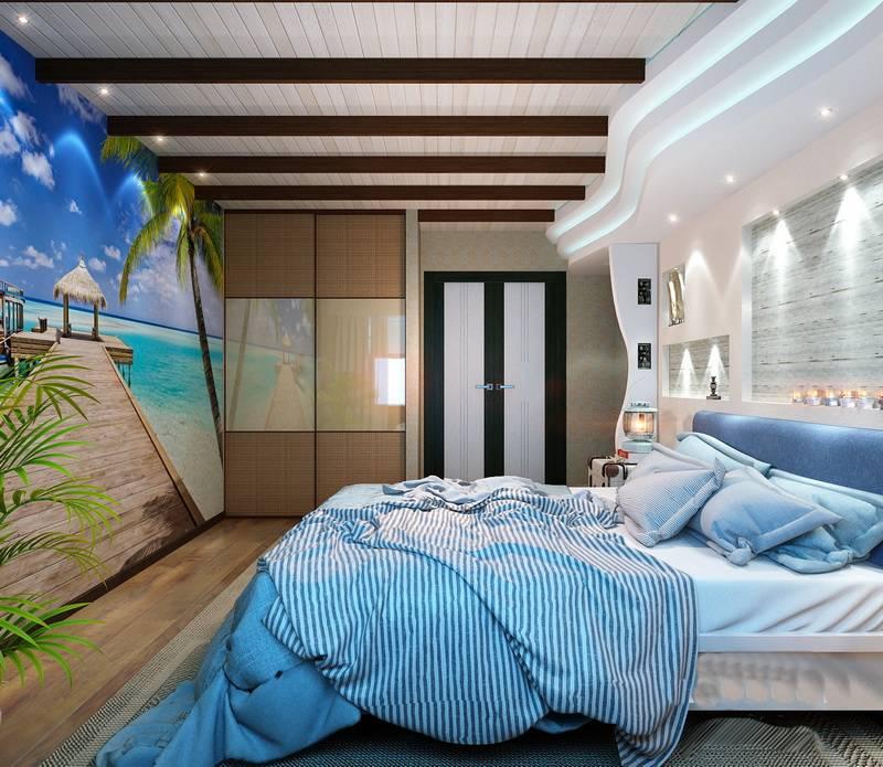 Морской стиль в интерьере: отделка, декор и мебель