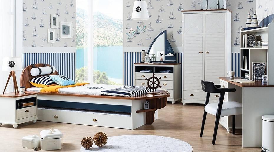 Поднять паруса и отдать швартовы… в детской комнате в морском стиле