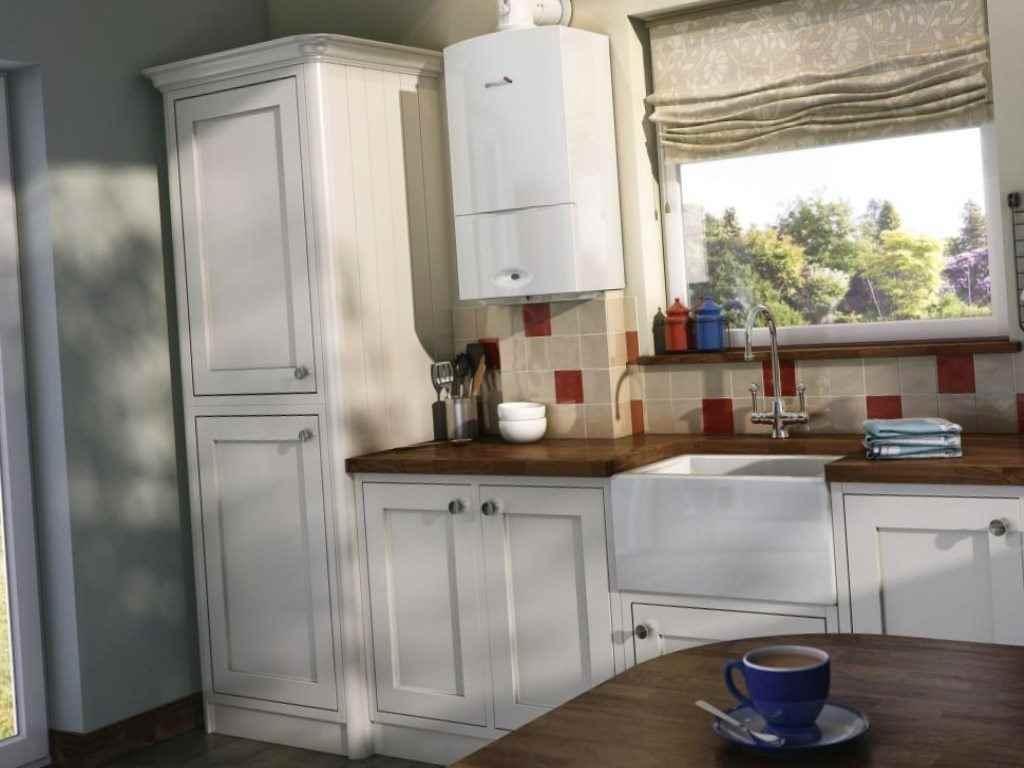 Как спрятать на кухне газовый котел, трубы и колонку – рекомендации и идеи