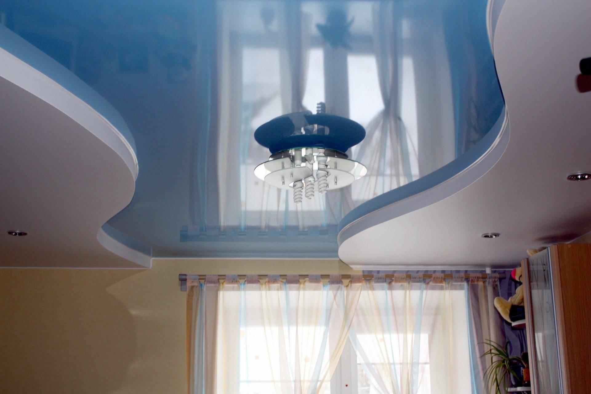Как установить натяжные потолки если одна перегородка из гипсокартона