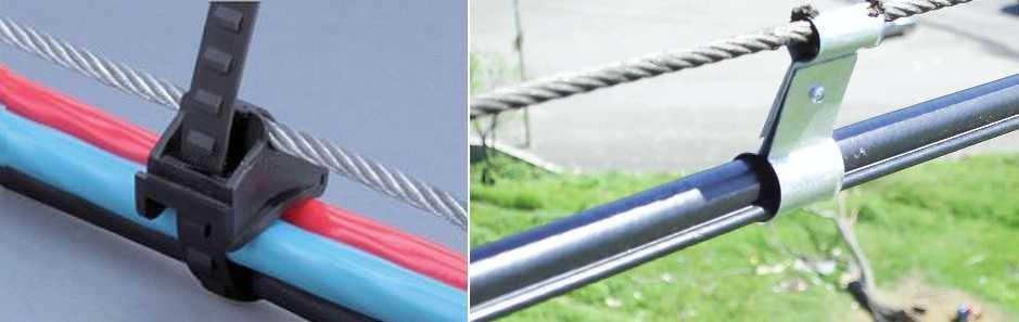 Крепление кабеля к стенам, потолку, в штробе, к столбу