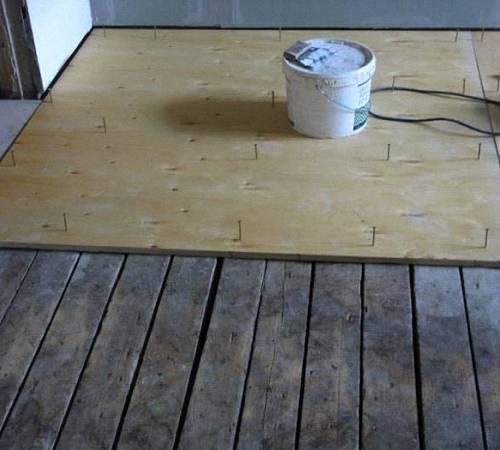 Дсп на бетонный пол под линолеум