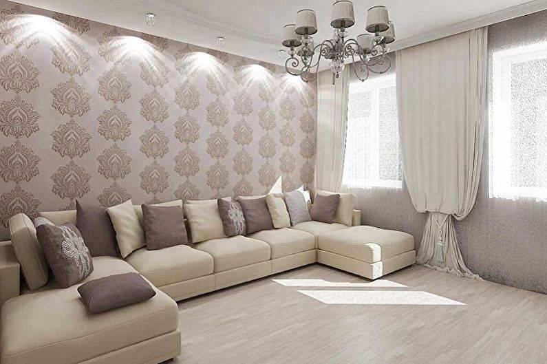 Модные серые стены в интерьере — 100 фото + обои