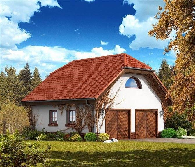 Строительство гаража с жилой мансандой – разновидности и проекты