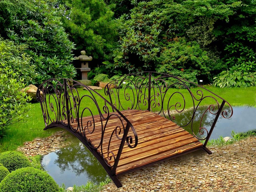 Декоративные мостики для сада и фото садовых ландшафтных мостиков через пруд на даче