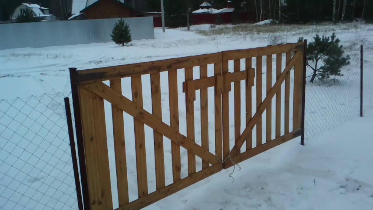 Изготовление ворот из дерева