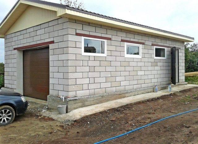 Недорогой гараж своими руками из шлакоблока: строительство от фундамента до крыши
