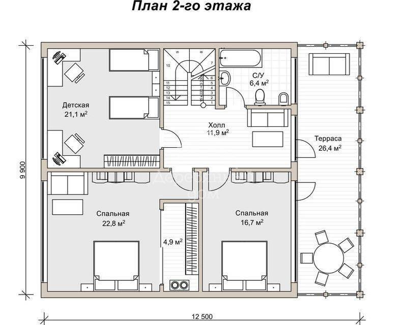 Двухэтажный дом с односкатной крышей — проекты и фото