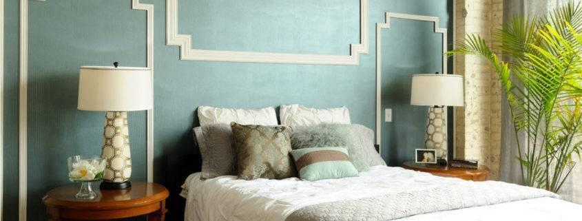 Дизайн стен в спальне: выбор цвета, варианты отделки, 130 фото в интерьере