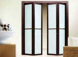 Складывающиеся двери межкомнатные: раздвижные системы книжка и гармошка пополам