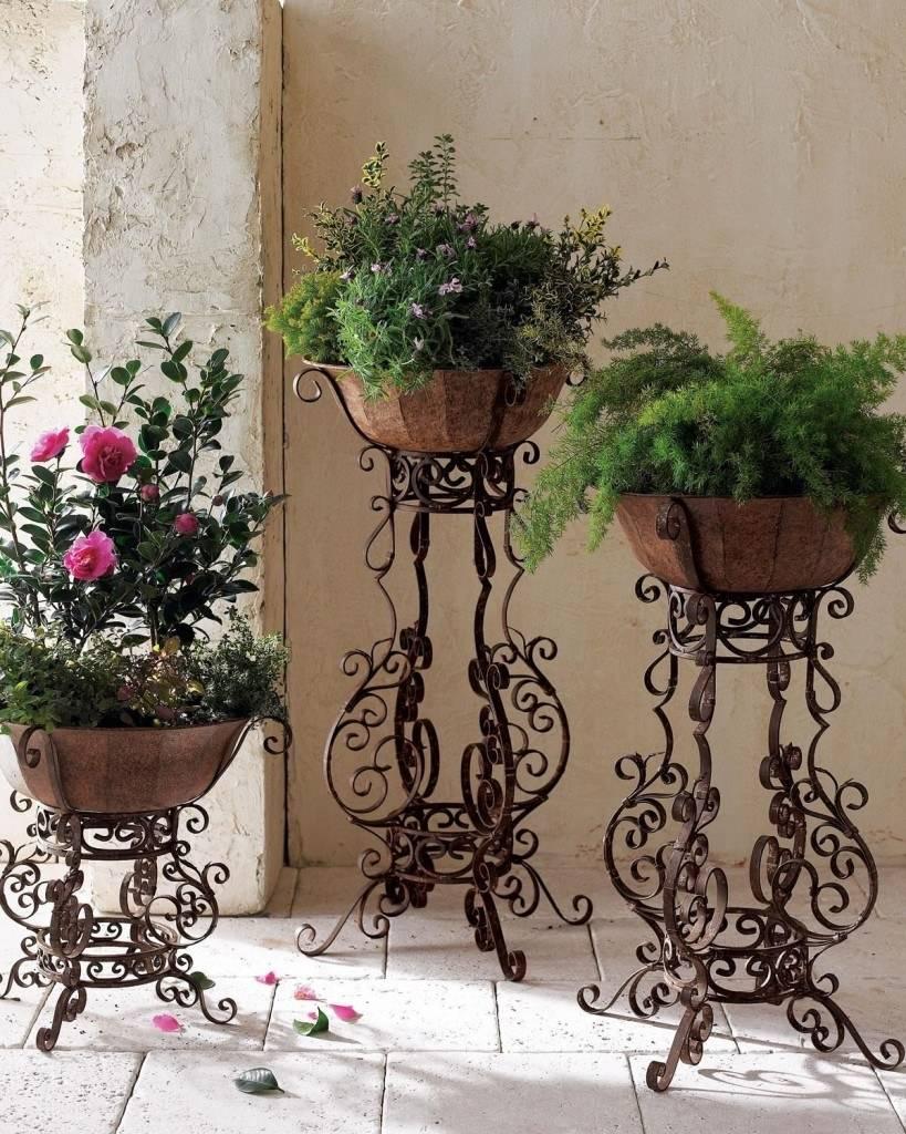 Подставка для цветов своими руками - 70 фото идей металлических и деревянных подставок для цветов