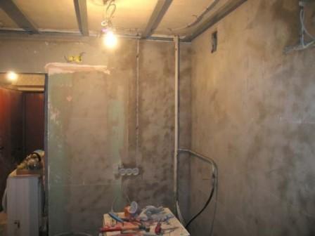 Подготовка стен под плитку на кухне