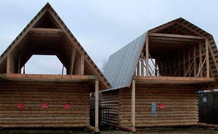 Ломаная крыша своими руками — чертежи, расчёты, фото, видео