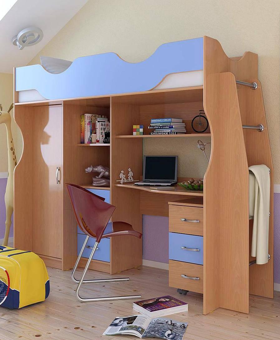 Уголок школьника со шкафом для одежды
