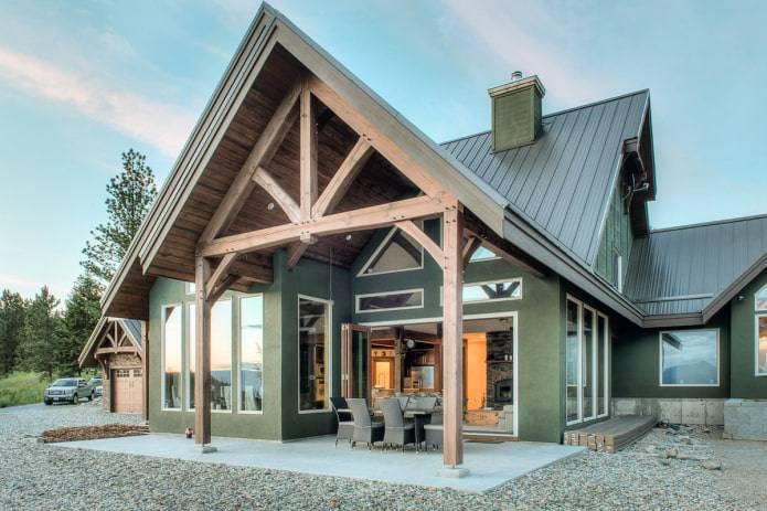 Одноэтажные фахверковые дома (22 фото): проекты и чертежи домов в 1 этаж в стиле фахверк с террасой и с плоской крышей, другие варианты