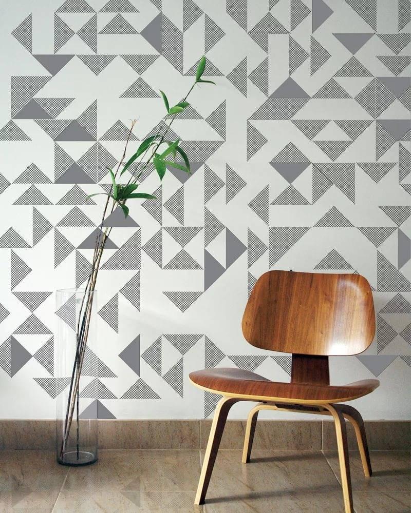 Обои с геометрическим рисунком в интерьере: 8 примеров