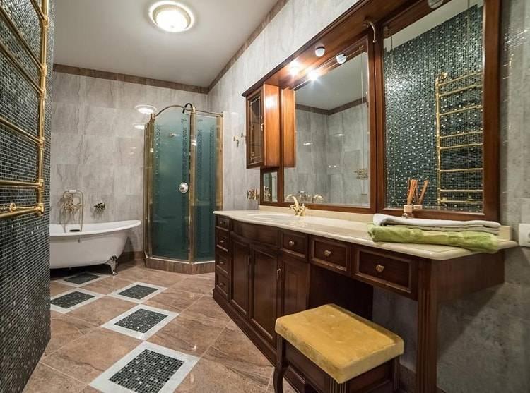 Линолеум для ванной комнаты и можно ли стелить в деревянном доме