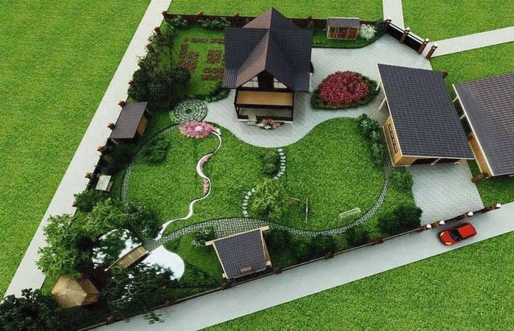 Ландшафтный дизайн маленького дачного участка