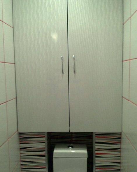 Как сделать шкаф в туалете за унитазом: идеи, фотографии готовых