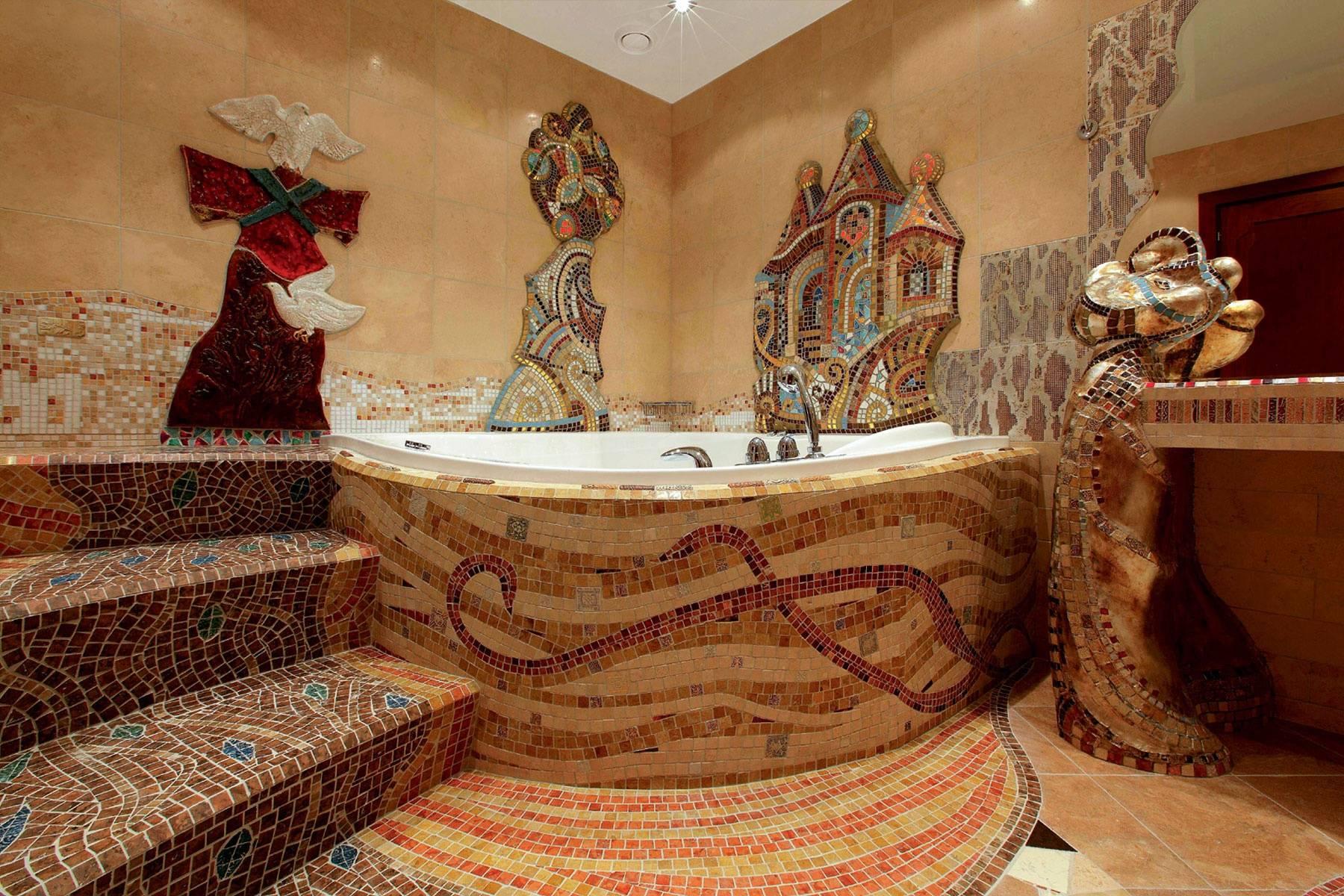 Мозаика в стиле Антонио Гауди: в поисках уникального дизайна интерьера