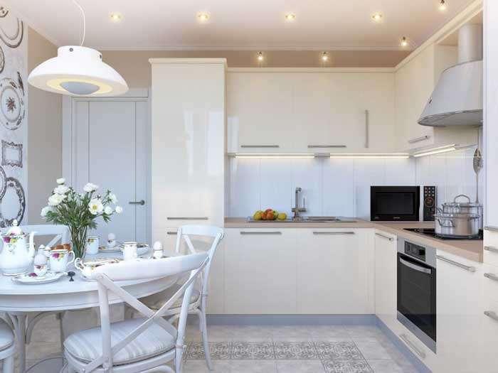 Дизайн кухни 14-15 кв. м с диваном