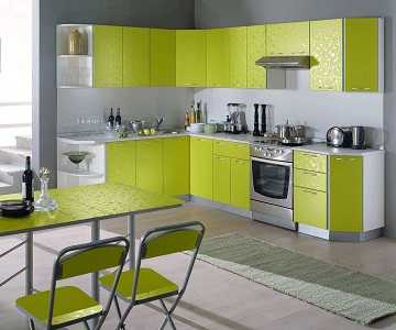 Зеленая кухня: фото дизайна интерьера, сочетание 8 цветов, 6 стилей