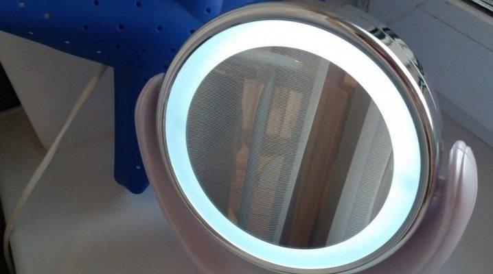 Увеличительное зеркало с подсветкой: модели косметологических зеркал с увеличением, особенности дизайна настенных увеличивающих изделий