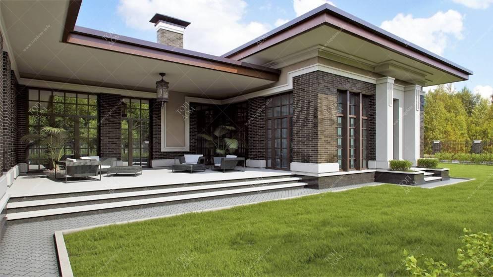 Красивые одноэтажные дома — 35 идей в разном стиле - уютный дом