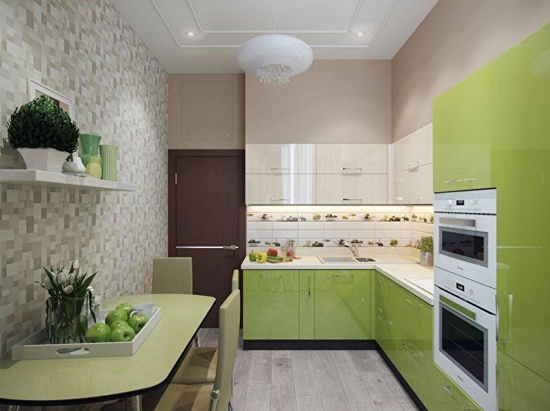 Обои для маленькой кухни: 22 идеи оформления в примерах (фото)