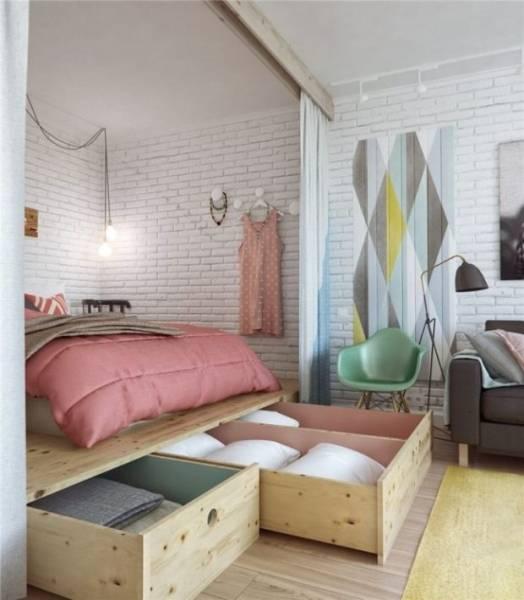 Подиум в квартире - 50 фото идей как правильно оформить красивый подиум