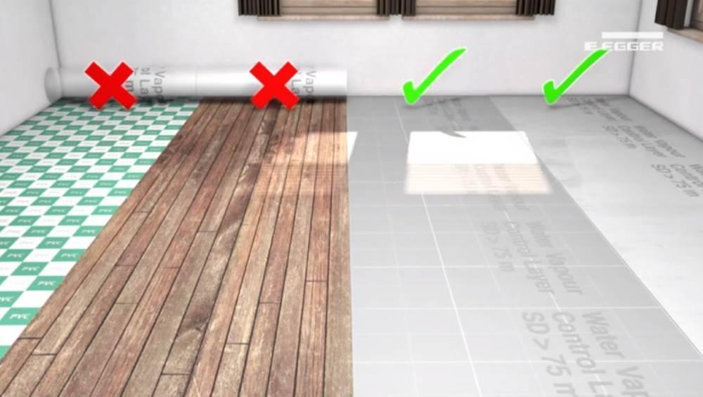 Укладка ламината на стяжку: можно ли класть ламинат на бетонную стяжку, как класть фанеру под ламинат, подложка на фото и видео