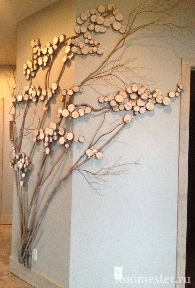 Поделки из веток деревьев своими руками - 100 фото и видео инструкция как сделать стильные украшения и игрушки
