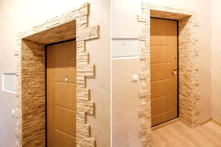 Штукатурка входной двери: как проводить своими руками декоративную отделку откосов, проема и стены после установки дверного полотна?