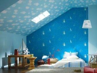Синие обои в спальне, кухне, гостиной, детской или прихожей (80 лучших фото)