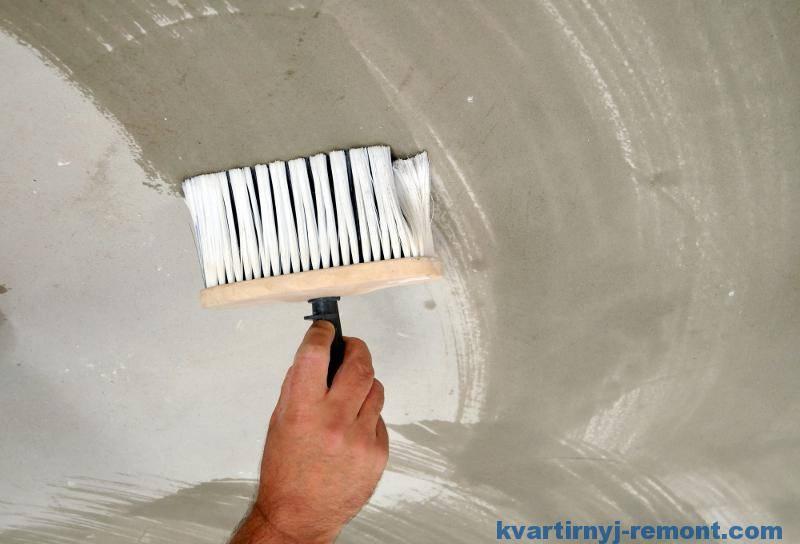 Акриловая краска для потолка: каким валиком красить и как правильно после побелки