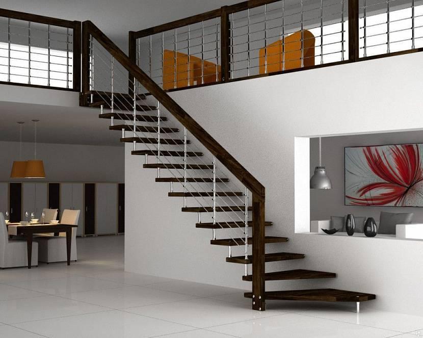 Виды лестниц на второй этаж, их конструкции и материалы изготовления