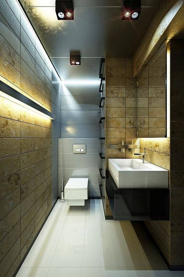 Дизайн маленького туалета: 80 фото, идеи интерьеров маленького санузла