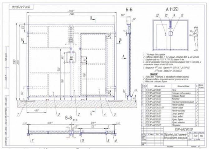 Подъемные гаражные ворота своими руками: как сделать из профиля в гараж, этапы изготовления, чертежи, стандартные размеры и устройство поворотных самодельных ворот