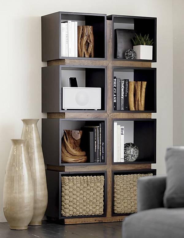Стеллаж для спальни (35 фото): деревянный шкаф-стеллаж, как оформить угловой вариант, изделия из массива