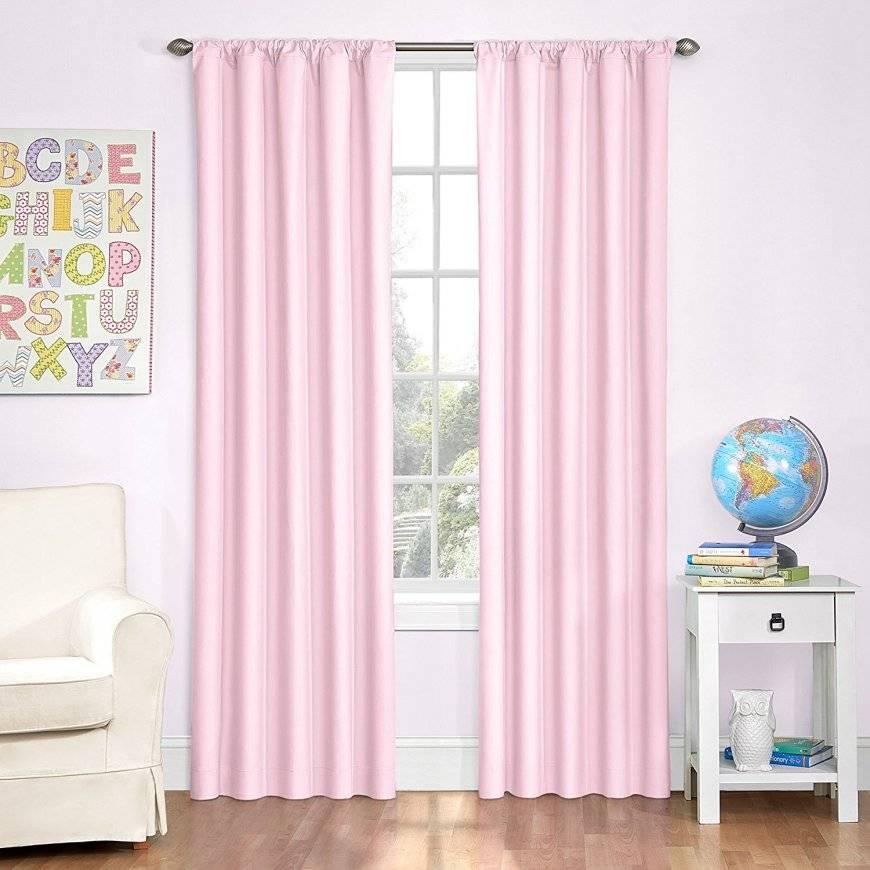 Розовые шторы - 121 фото стильного применения нежных занавесок